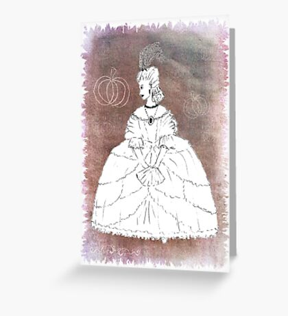 Cinders w Makeup blended hues Greeting Card