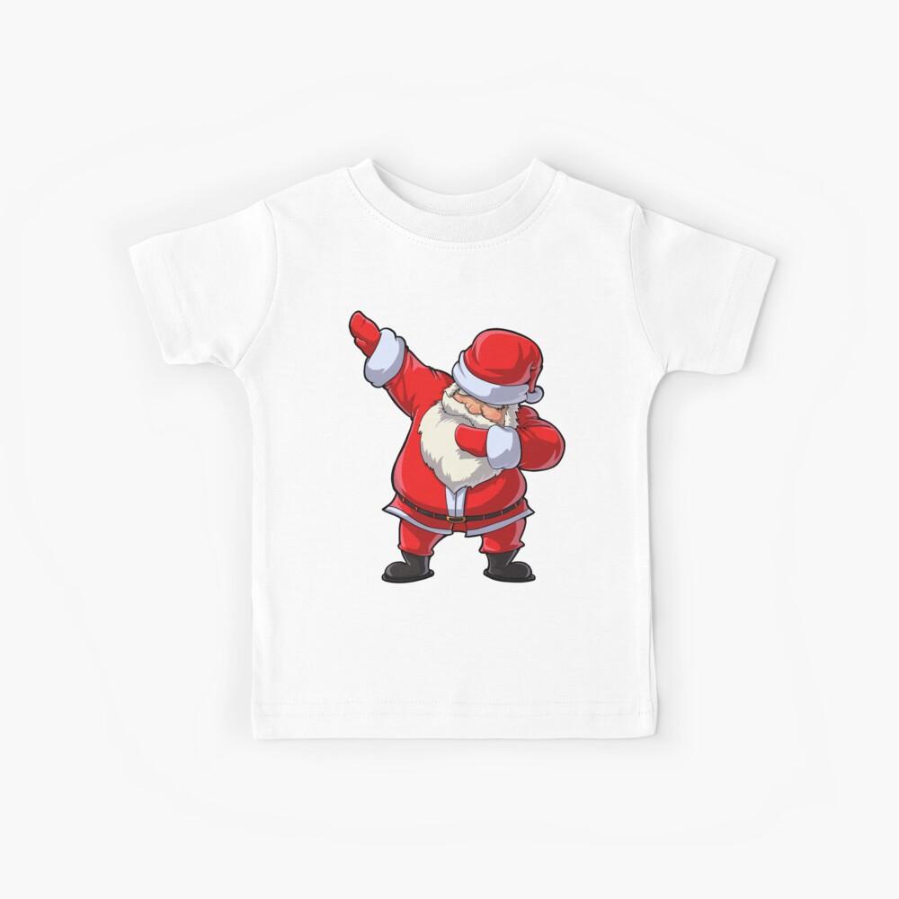 Dabbing Santa Camiseta Claus Christmas Funny Dab Navidad Regalos Niños Niños Niñas Juventud Camiseta para niños