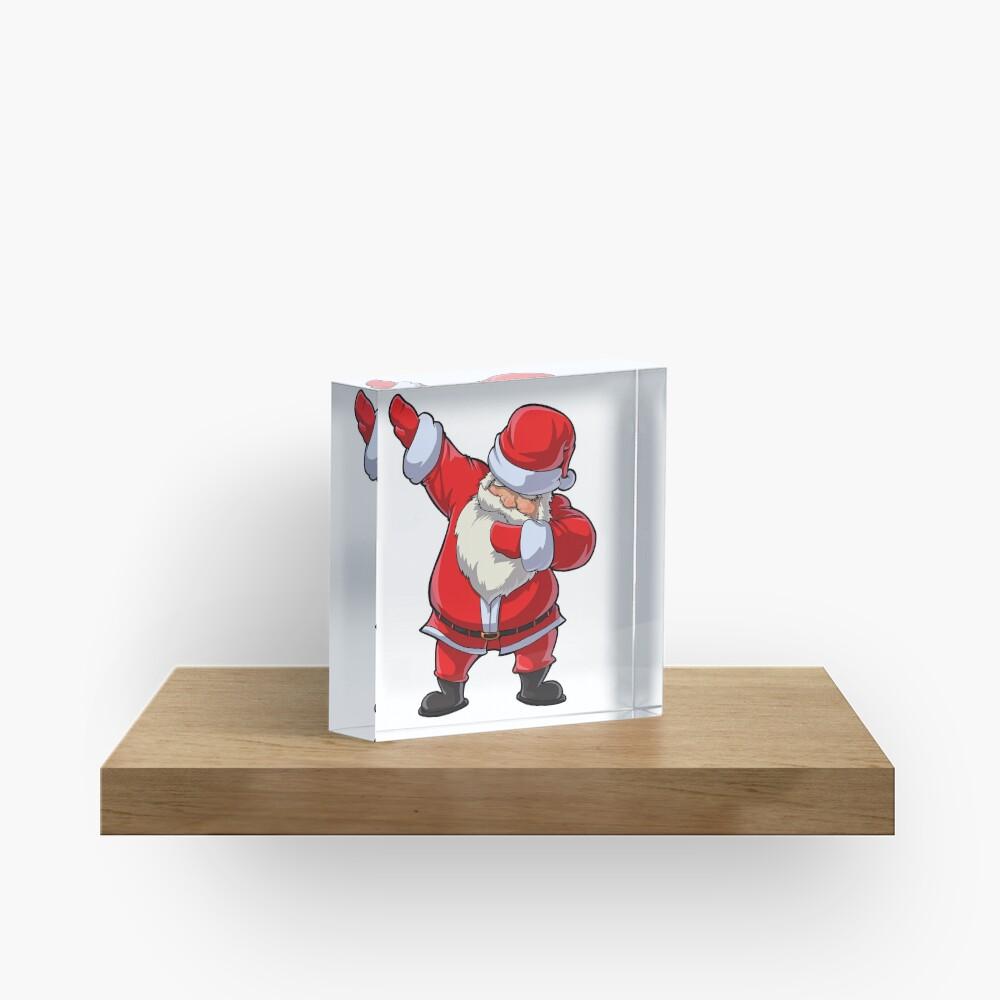Dabbing Santa T Shirt Claus Christmas Funny Dab X-mas Gifts Kids Boys Girls Youth Acrylic Block