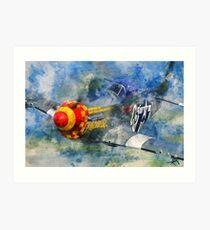 P51 Fighter Art Print