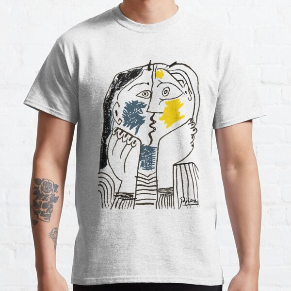 Pablo Picasso The Kiss 1979 Artwork Reproduction For T Shirt, Framed Prints Classic T-Shirt