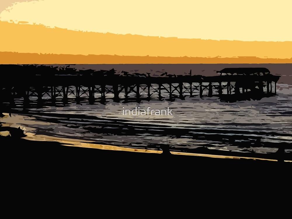 Henley jetty at dusk by indiafrank