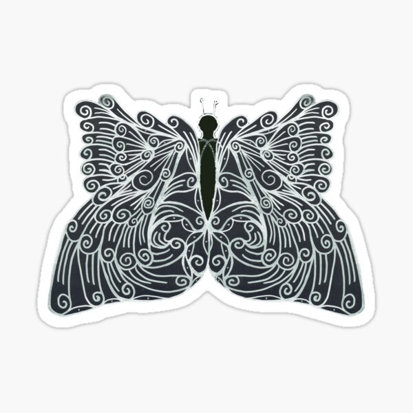 Scrolly Butterfly Sticker