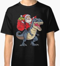 Santa Riding Dinosaur T rex T Shirt Christmas Gifts X-mas Kids Boys Girls Man Women Classic T-Shirt