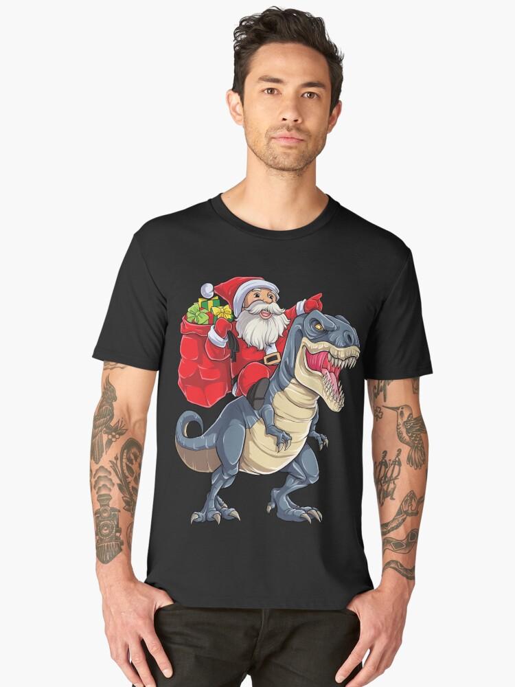 Sankt-Reitdinosaurier T rex T-Shirt Weihnachtsgeschenke ...
