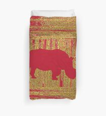 Save the Rhino! Duvet Cover