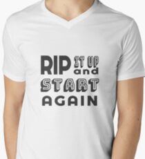 Rip it Up  and Start Again - Back to the Drawing Board (Design Day 217) V-Neck T-Shirt