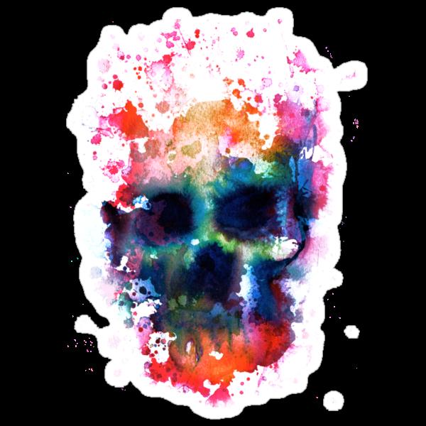Splatter and Bone on Black by beanarts
