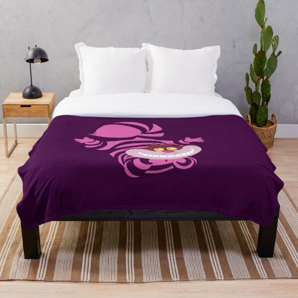 De-Su Art - Cheshire the cat Throw Blanket