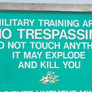 Military Training Sign by Beetlejuice