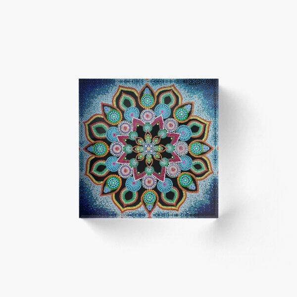 Red Star Mandala - Art&Deco By Natasha Acrylic Block