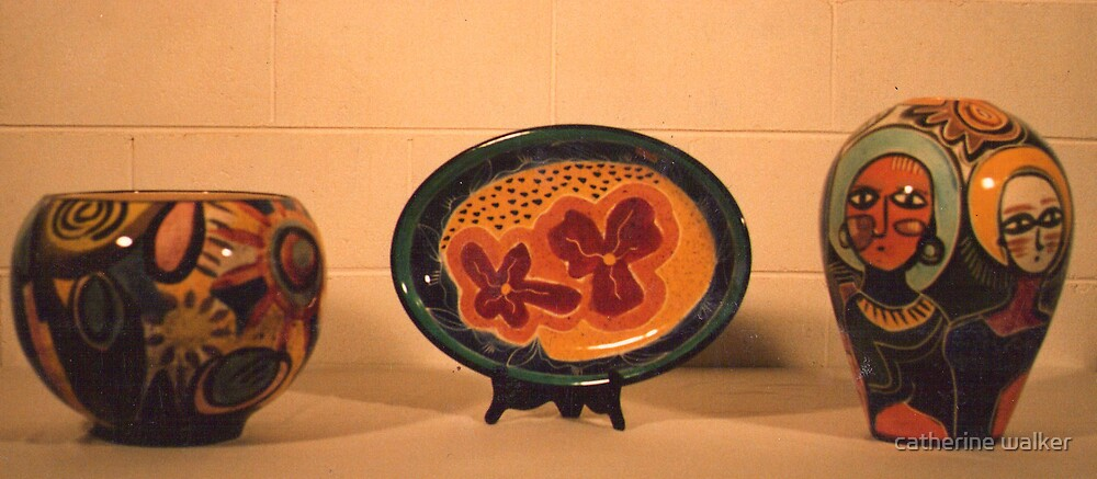 bright pottery by catherine walker
