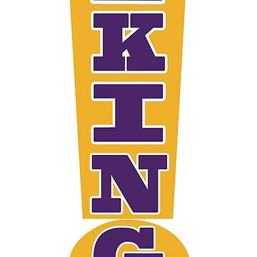 KING EXCLAMATION POINT PURPLE AND GOLD by 12sstorm