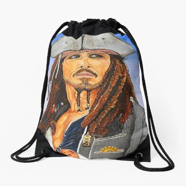 Johnny Depp as Cpt. Jack Sparrow Drawstring Bag