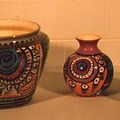 more old coloured  pottery by catherine walker