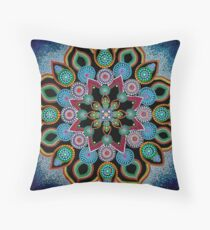 Red Star Mandala - Art&Deco By Natasha Throw Pillow