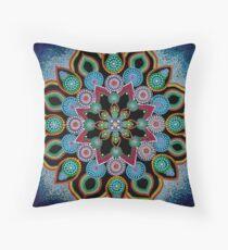 Red Star Mandala - Art&Deco By Natasha Throw Pillow