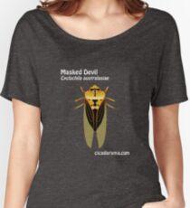 Masked Devil cicada (Cyclochila australasiae) - dark colour shirts Women's Relaxed Fit T-Shirt