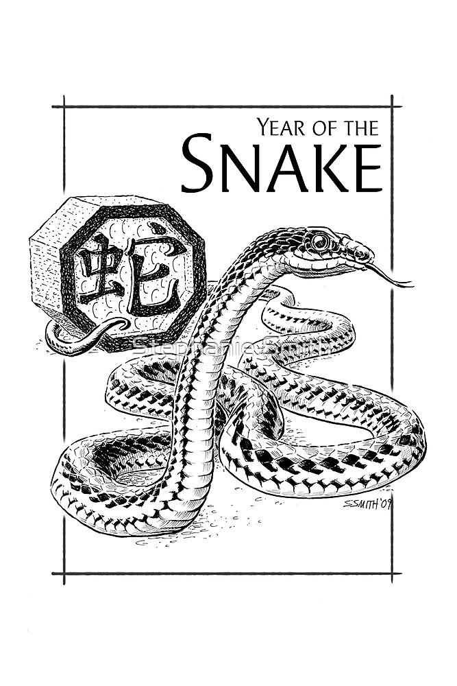Chinese Zodiac - The Snake by Stephanie Smith