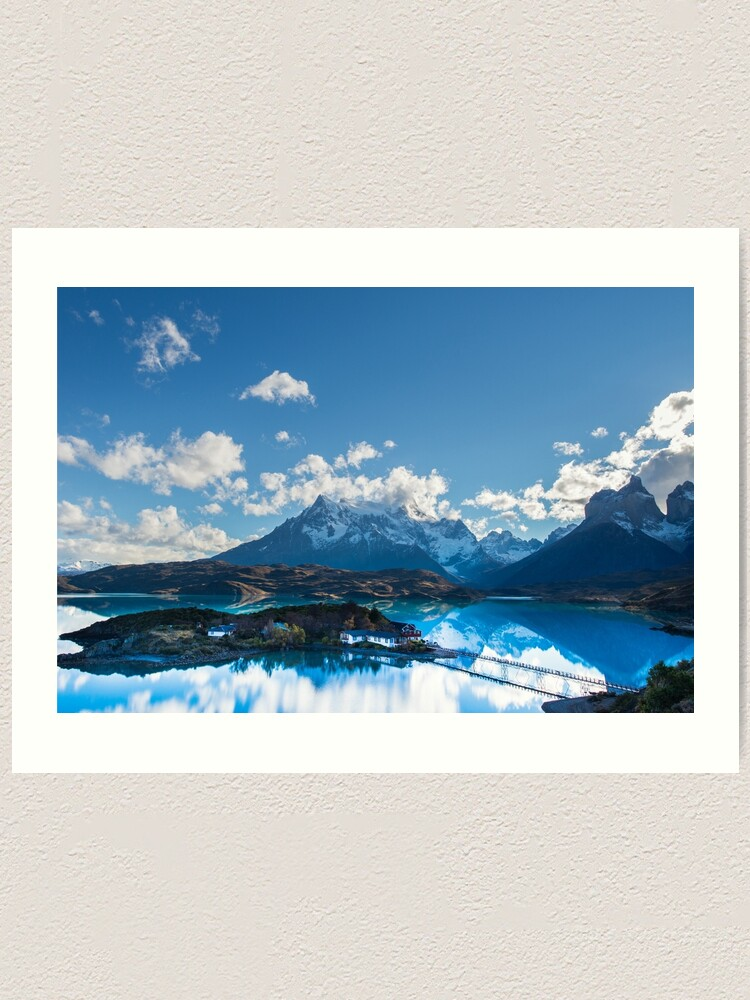 National Park Torres Del Paine Art Print Home Decor Wall Art Poster Lago Pehoe