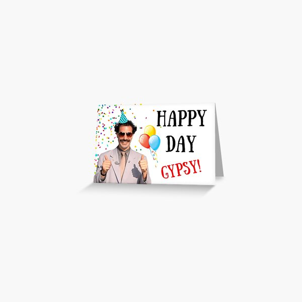 Borat birthday card, Borat greeting card, Graduation card, Anniversary card, Borat, Ali G, Bruno, meme greeting cards Greeting Card