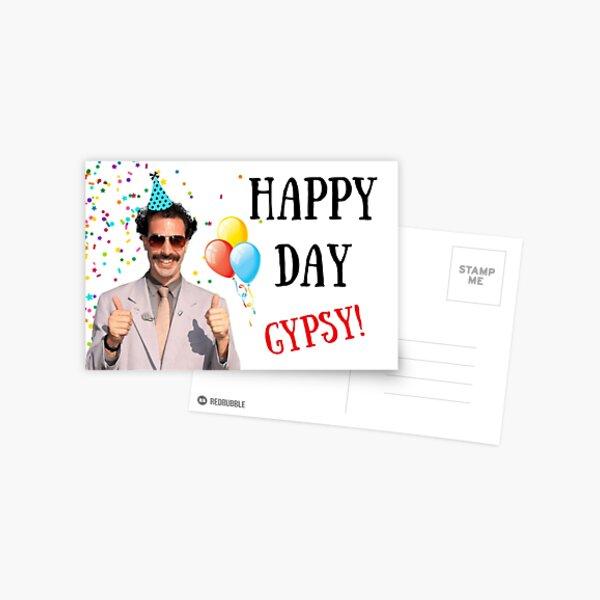 Borat birthday card, Borat greeting card, Graduation card, Anniversary card, Borat, Ali G, Bruno, meme greeting cards Postcard