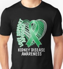 Love Support Advocate Kidney Disease Awareness T shirt Unisex T-Shirt