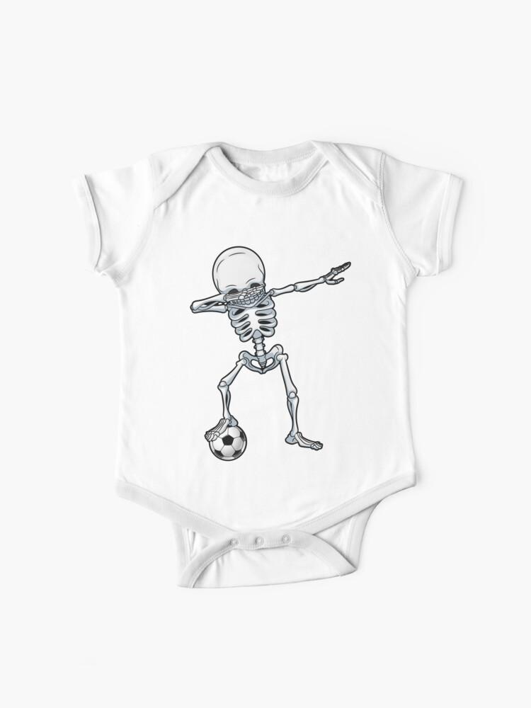 Abtupfendes Skelett Fussball T Shirt Halloween Kostum Schadel Lustige Furchtsame Geschenke Kinderjungen Jugend Manner Baby Body