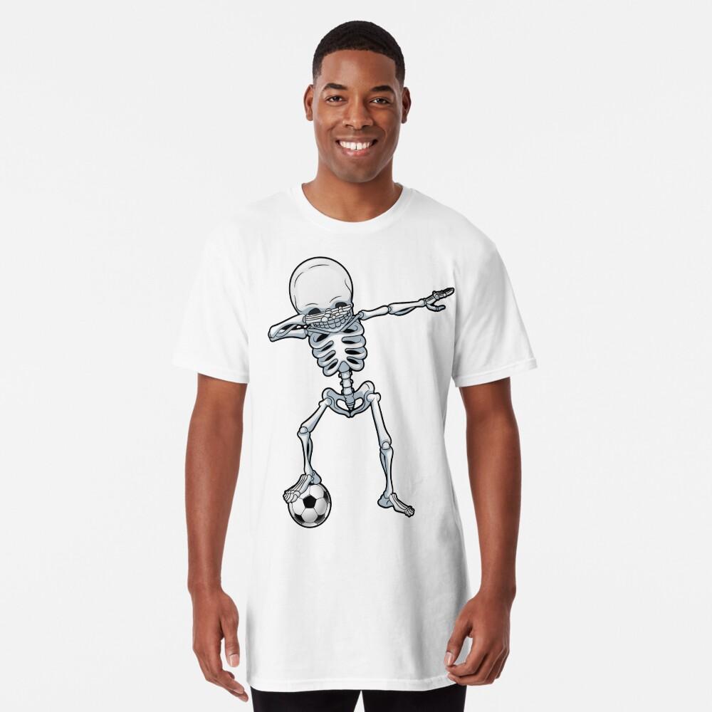 Abtupfendes Skelett Fussball T Shirt Halloween Kostum Schadel