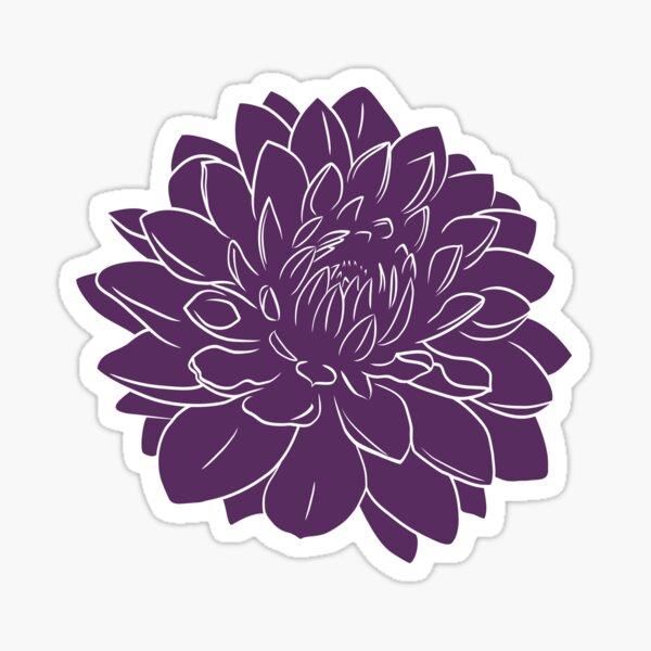 Dark Purple Dahlia Sticker