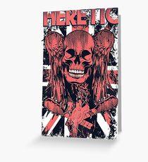 Skull Skull Metal Band Death Greeting Card