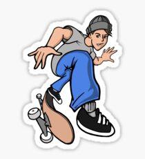 Heelflip Skater Boy Sticker