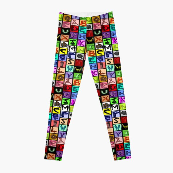 The Alphabet 2015/ Breathing in the Words Leggings