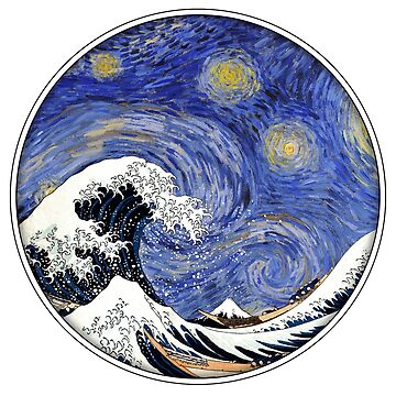 The Great Wave on a Starry Night by reapolo