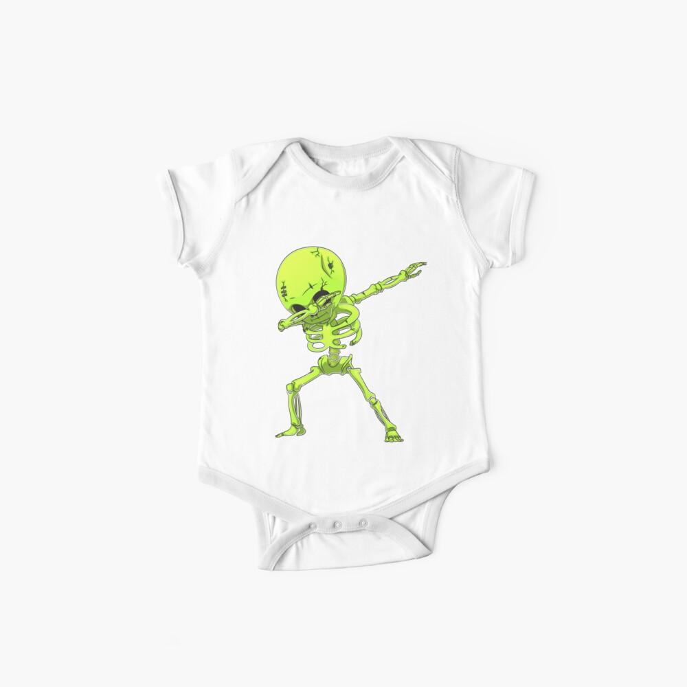 Tupfen Sie Skeleton T-Shirt Halloween-Kostüm-lustige furchtsame Zombie-Stich-Tanz-T-Shirt Kinder Jungen-Mann-Geschenke Baby Bodys
