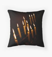 Cathedral Candles Throw Pillow