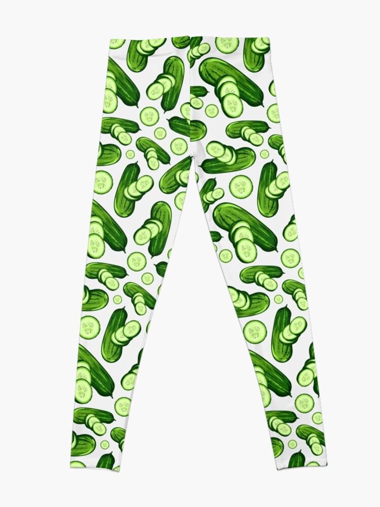 Alternate view of Veggiephile - Cucumbers Leggings
