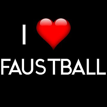 I Love fistball two lines by Palme-Solutions