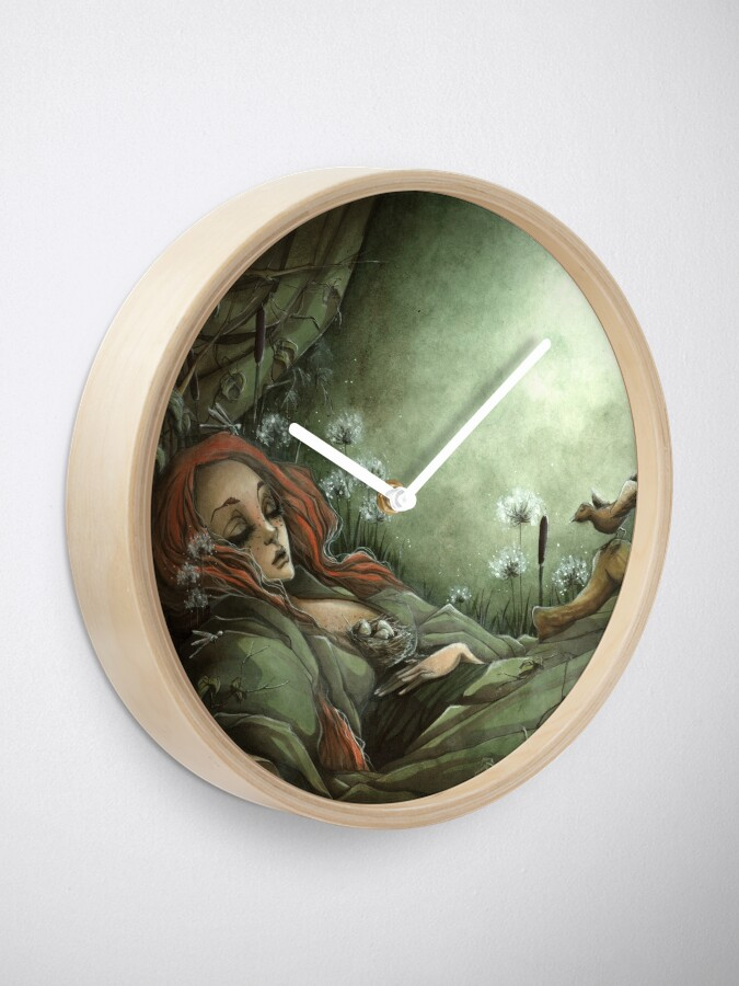 Alternate view of Sleeping Beauty Clock