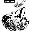 Sportpax vintage swimming bag illustration by tvcream