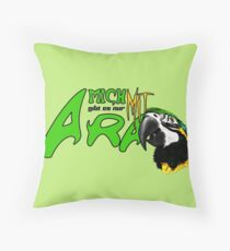i am available only with ara Throw Pillow