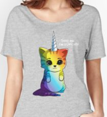 Caticorn T shirt Cat Unicorn Kittycorn Meowgical Rainbow Gifts Kids Girls Women Funny Cute Tees Women's Relaxed Fit T-Shirt
