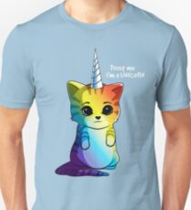 Caticorn T shirt Cat Unicorn Kittycorn Meowgical Rainbow Gifts Kids Girls Women Funny Cute Tees Unisex T-Shirt
