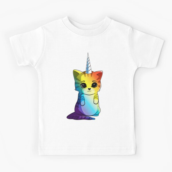 Caticorn T-shirt Chat Licorne Kittycorn Meowgical Rainbow Cadeaux Enfants Filles Femmes Drôle Mignon T-shirts T-shirt enfant