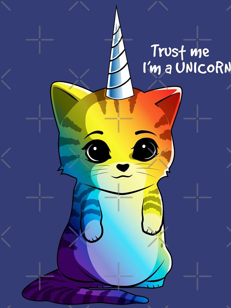 Caticorn T-Shirt Katze Einhorn Kittycorn Meowgical Rainbow Geschenke Kinder Mädchen Frauen Lustige Cute Tees von LiqueGifts