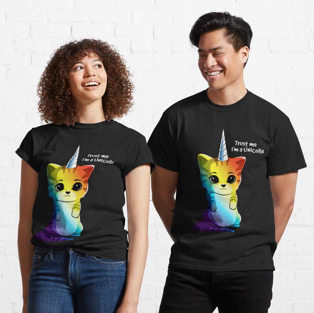 Caticorn T shirt Cat Unicorn Kittycorn Meowgical Rainbow Gifts Kids Girls Women Funny Cute Tees Fitted VNeck TShirt Gift Trending Design T Shirt