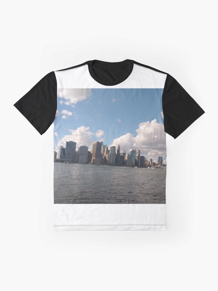 Alternate view of Manhattan, #Manhattan, New York City, #NewYorkCity, New York, #NewYork Graphic T-Shirt