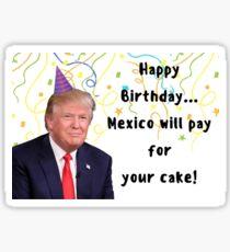 Trump Geburtstagskarte, Meme Grußkarten Sticker