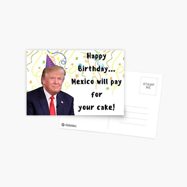 Trump birthday card, meme greeting cards Postcard