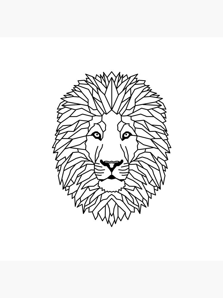 Lion Geometric As Geometric Art Board Print By Frediwicht Redbubble Pobierz tę ilustrację wektorową geometric lion logo king walking line art outline vector download teraz. redbubble